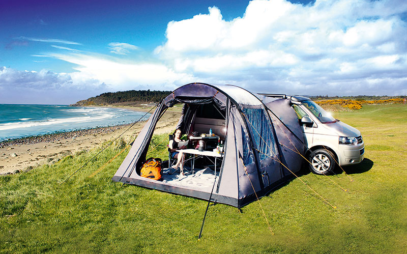 Decent-Sized Inflatable Awning for LWB T5 - VW T4 Forum ...