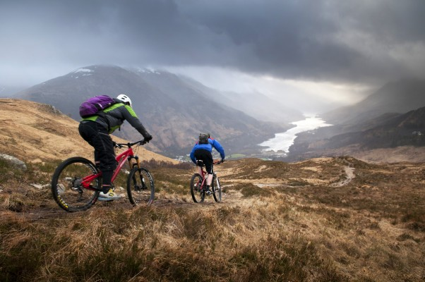 Dropping down to Loch Leven in the Scottish Highlands