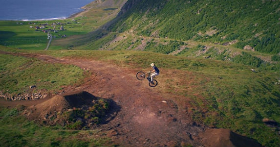 Nico Vink rides the alpine jump trail