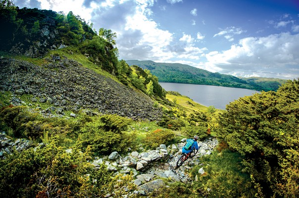 Ullswater mountain bike GPS route download Lake District