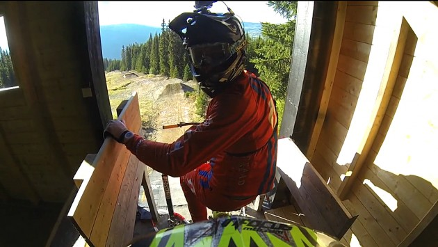 Claudio Caluori previews the World Cup downhill trail at Hafjell, Norway
