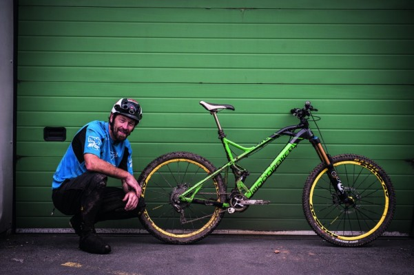 Chris Porter and his custom Mondraker Dune XR