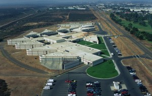 Aerial view of the Naval Consolidated Brig Miramar, Naval Air Station (NAS) Miramar, California (CA).