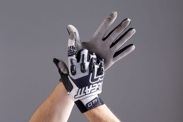 Pro-Tech Hands Down Cycling//Bicycle Full Finger Gloves Black//Gray Small