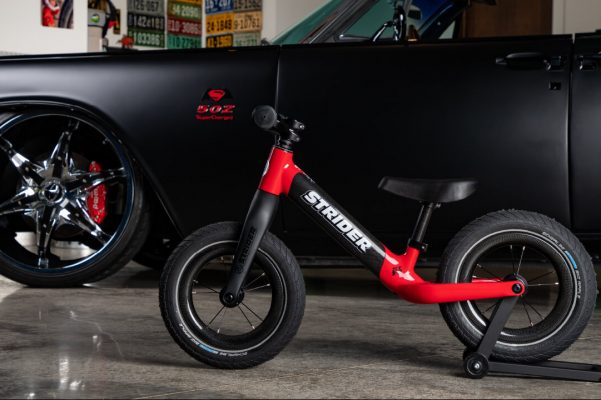 e3ad031b325 It had to happen. Check out the $899.99 Strider 12 ST-R carbon fibre balance  bike. Balance bike racing just got real (expensive).