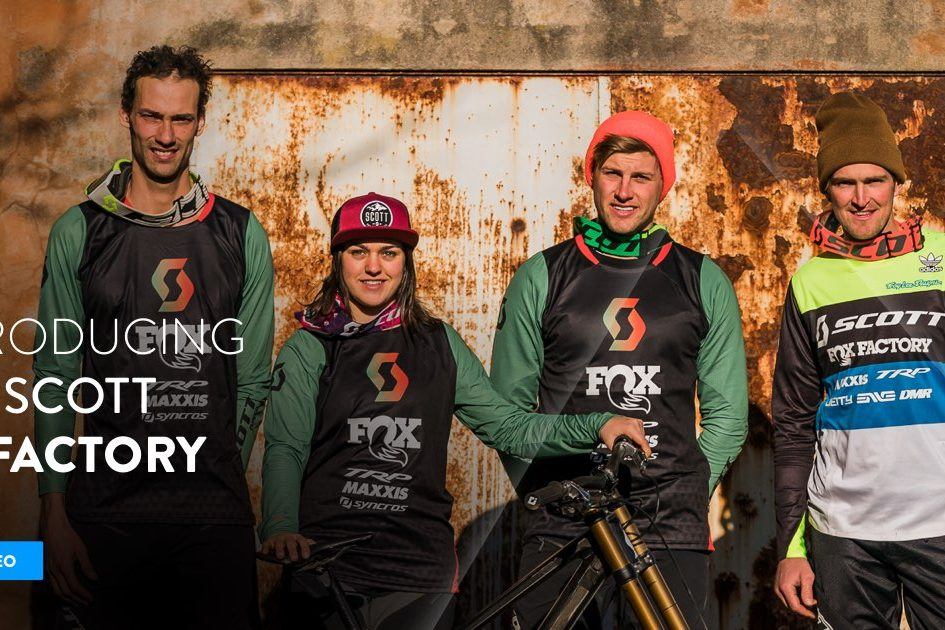 2019 Scott DH Factory is Dean Lucas, Brendan Fairclough, Marine Cabirou and Flo Payet - MBR
