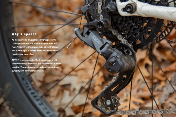 Microshift Advent wide-range 9-speed drivetrain costs $125 - MBR