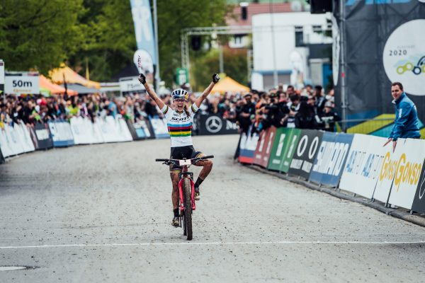 USA's Kate Courtney reigns in Albstadt rain for first ever UCI XCO win