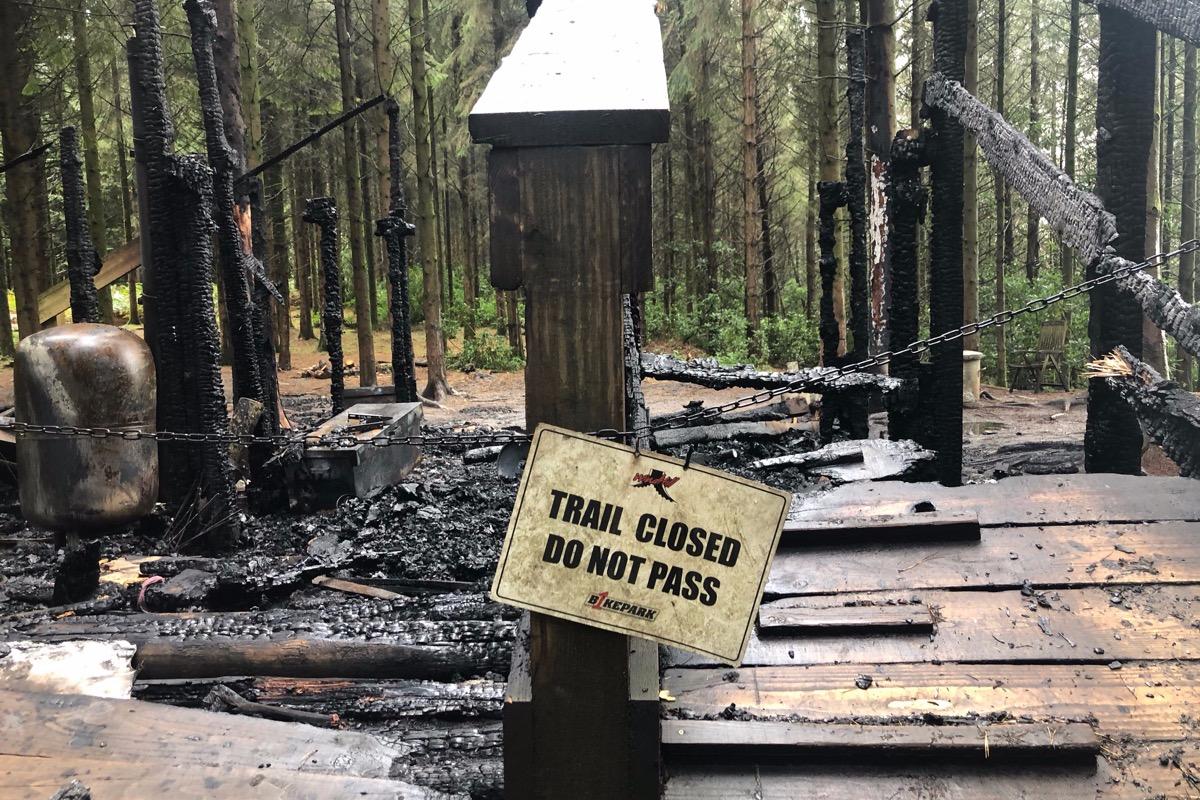 Wind Hill Bikepark start GoFundMe page after suspected arson attack - MBR