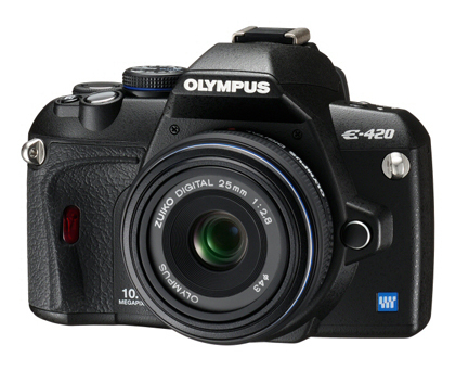 Olympus E-420 camera with 25mm lens