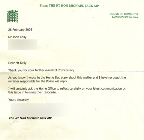 Letter from MP