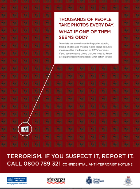 The Met's anti-terror campaign poster