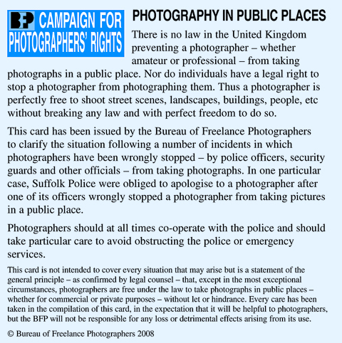 BFP launches photo rights card