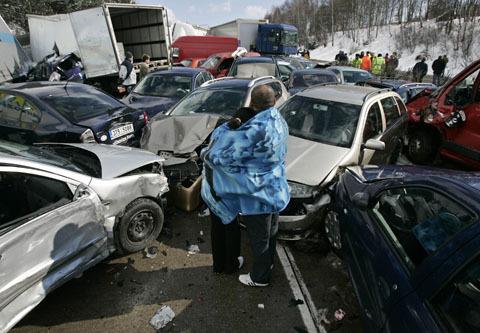 Largest car crash