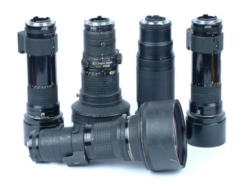 Police camera lenses