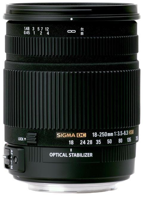 Sigma 18-250mm camera lens
