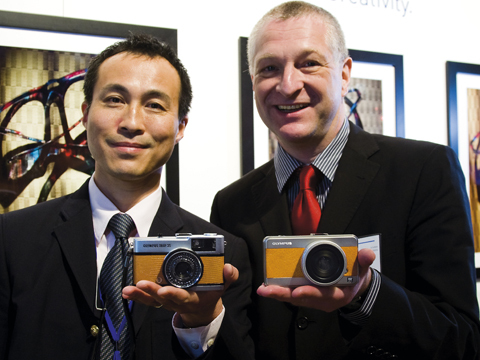 Olympus Trip and E-P1 prototype at PMA