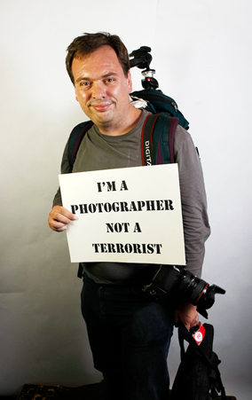 Photographer not a terrorist