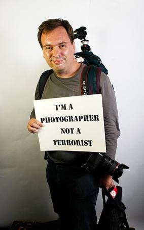 Photographer not a terrorist