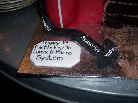 Panasonic Lumix G1 cake