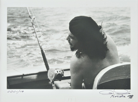 Che Guevara fishing photo
