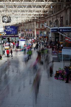 Using blur - Waterloo station taken at 2.5sec