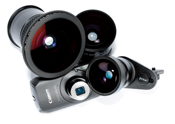 Compact cameras and fisheye adapters