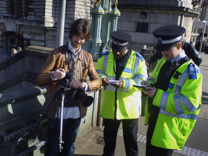 Police stop photographer
