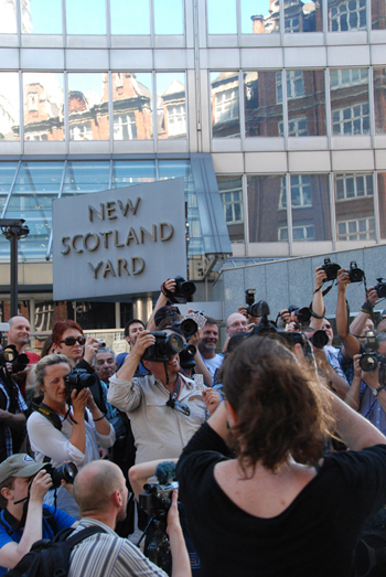 Photographers at Scotland Yard