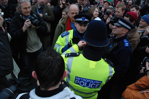 Trafalgar Square protest image