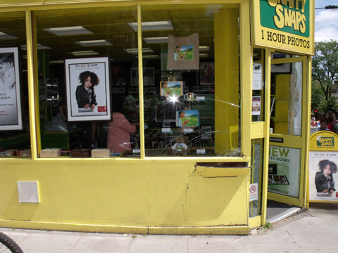 Snappy Snaps shop picture after damage