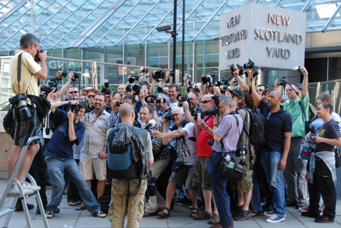 Photographers protest