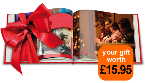 Today's gift is a FREE photobook worth £15.95 from Albelli