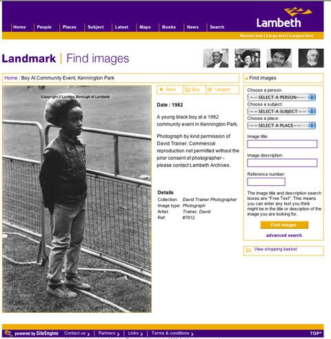 Lambeth council website