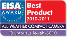 EISA Award Best Product 2010-2011: Best European All-Weather Compact Camera 2010-2011 Winner: Olympus µ Tough-8010
