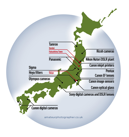 Japan Earthquake And Tsunami Camera Industry Update Amateur - Japan uk map