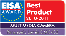 EISA Award Best Product 2010-2011: Best European Multimedia Camera 2010-2011 Winner: Panasonic Lumix DMC-G2