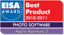 EISA Award Best Product 2010-2011: Best European Photo Software 2010-2011 Winner: Apple Aperture 3