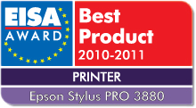EISA Award Best Product 2010-2011: Best European Printer 2010-2011 Winner: Epson Stylus Pro 3880