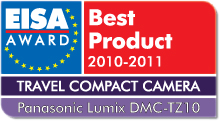 EISA Award Best Product 2010-2011: Best European Travel Compact Camera 2010-2011 Winner: Panasonic Lumix DMC-TZ10