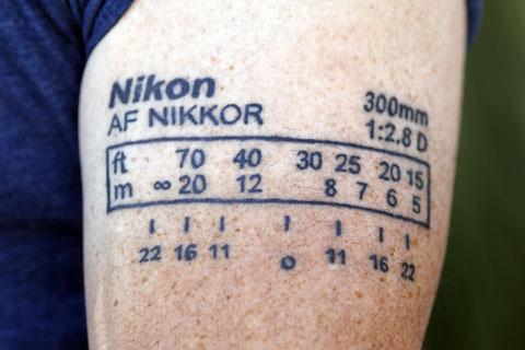 Nikon tattoo