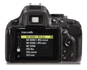 Nikon D5100 LCD