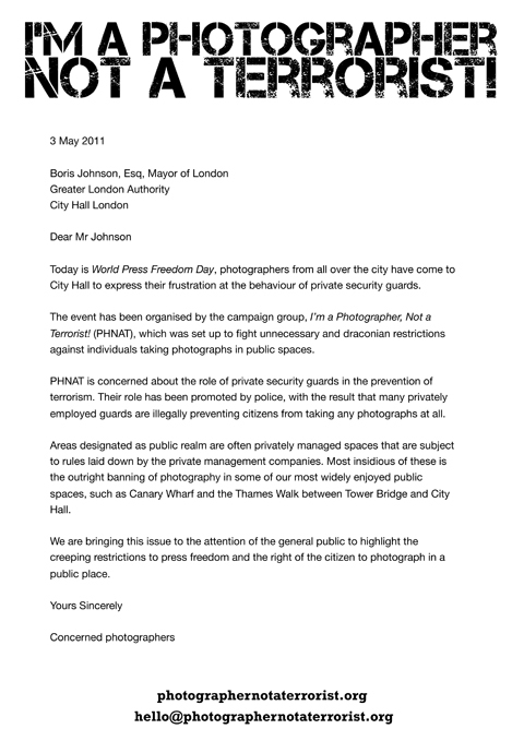 Letter to Boris Johnson