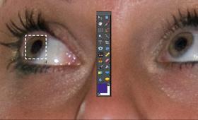 Editing redeye using image editing software