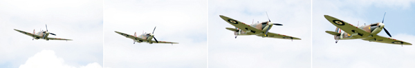 Predictive AF-Spitfires. Predictive AF enables the camera to adjust the focus of the lens to follow a moving subject as its distance from the camera changes. Though it is not infallible, when it works it results in a sharp sequence of images like these captured using a Nikon D300 and an 80-200mm f/2.8 lens.