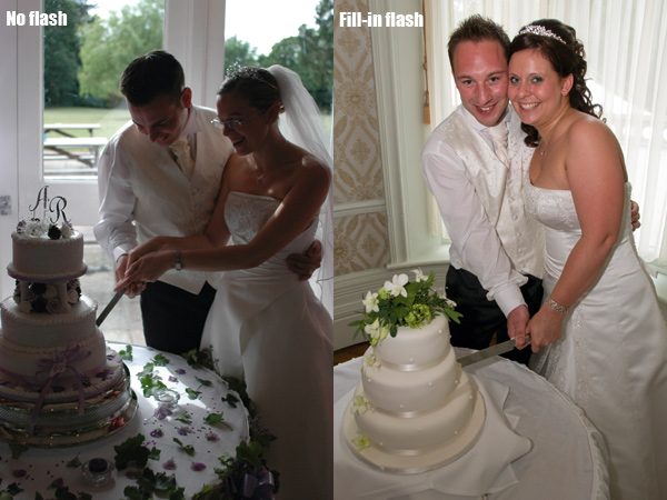 Wedding photography - Fill-in flash is essential if a scene is backlit