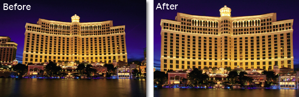 Correcting Verticals using CS4 before and after photos
