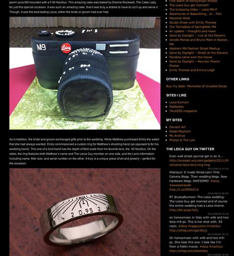 The Leica Guy's wedding