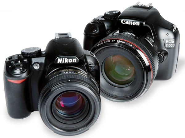 Canon EOS 1100D and Nikon D3100