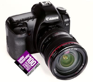 Canon EOS 5D Mark II top 100 camera